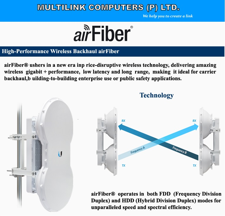 High End Band-Width Radio- AirFiber Introduced by Multilink
