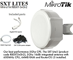 Mikrotik SXT Lite5 RBSXT-5nDr2 Outdoor Wireless Device, 5Ghz CPE 16dBi Dual Polarity Antenna