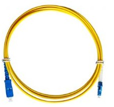 SC/UPC to LC/UPC Single mode Simplex Fiber Optical Patch Cords - 5 Metres